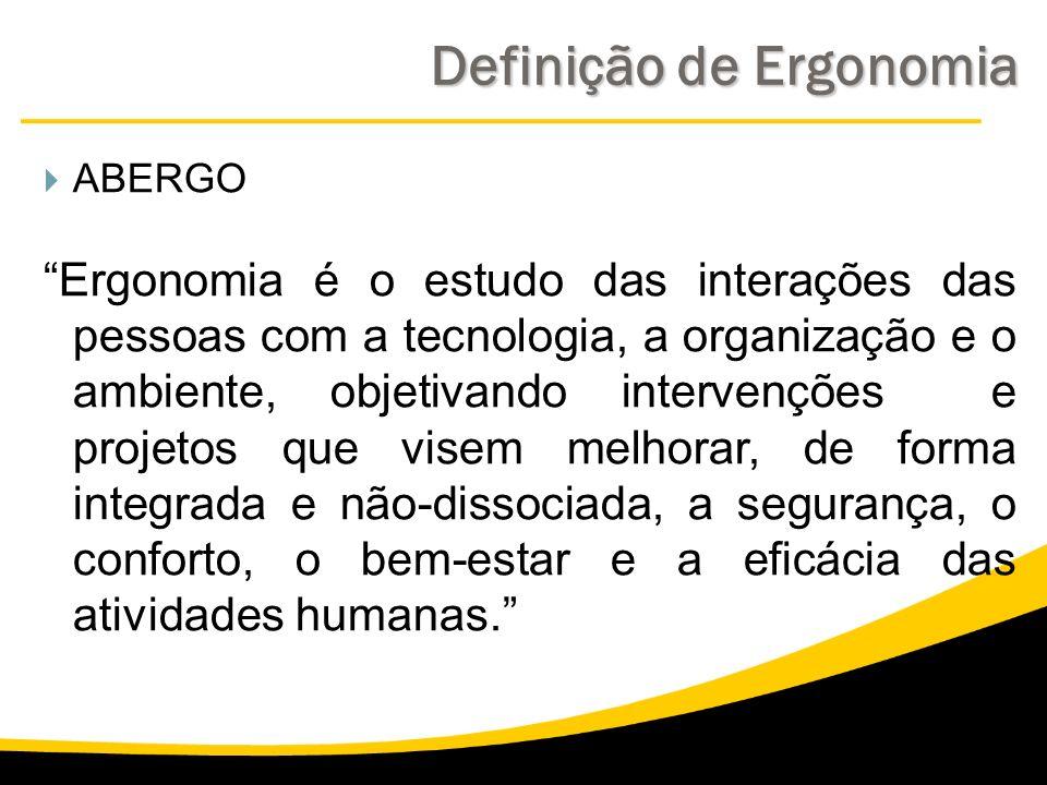 Definição de Ergonomia