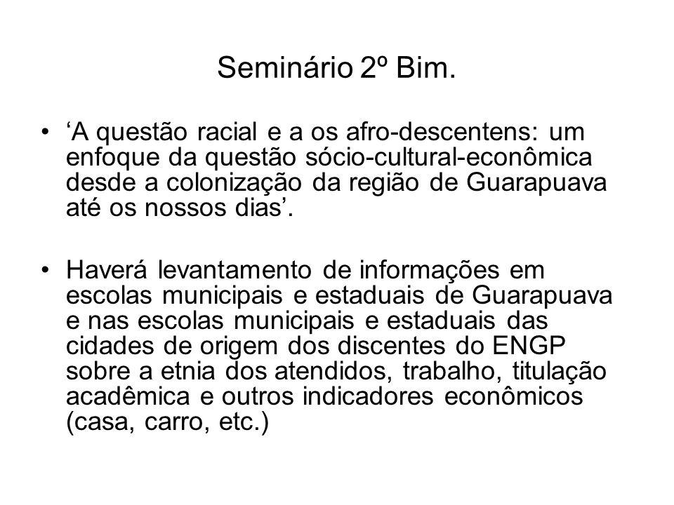 Seminário 2º Bim.