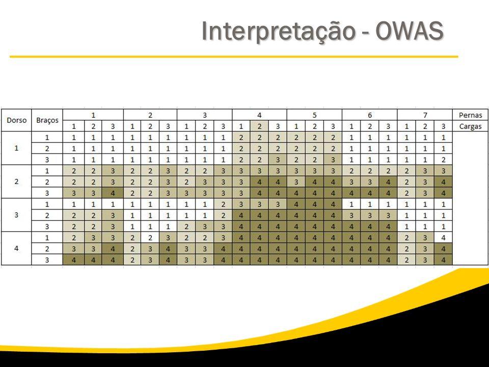 Interpretação - OWAS