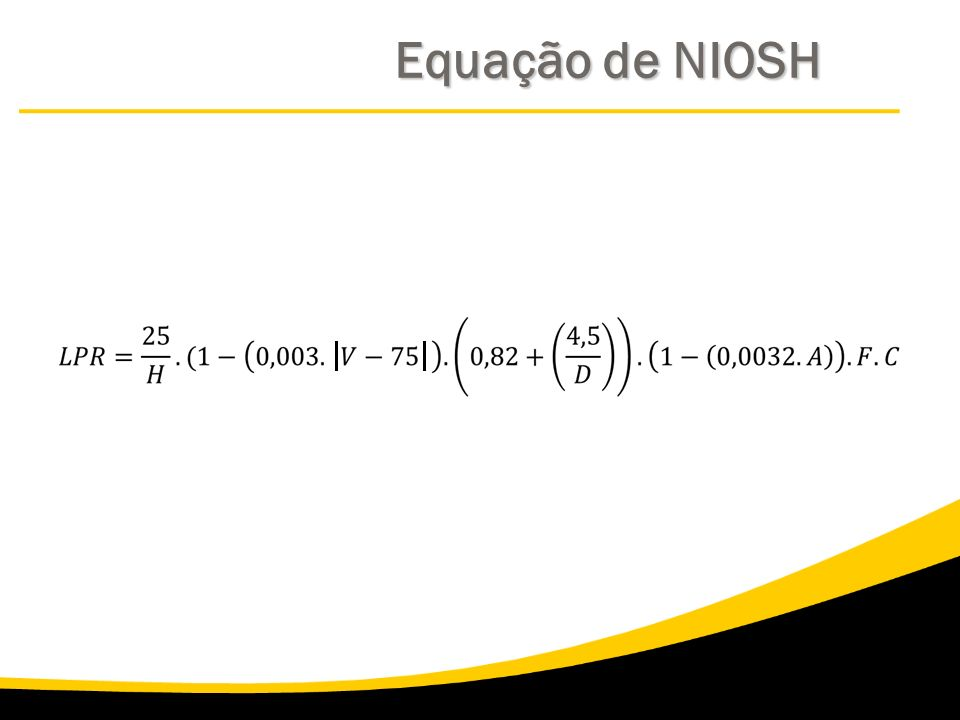 Equação de NIOSH