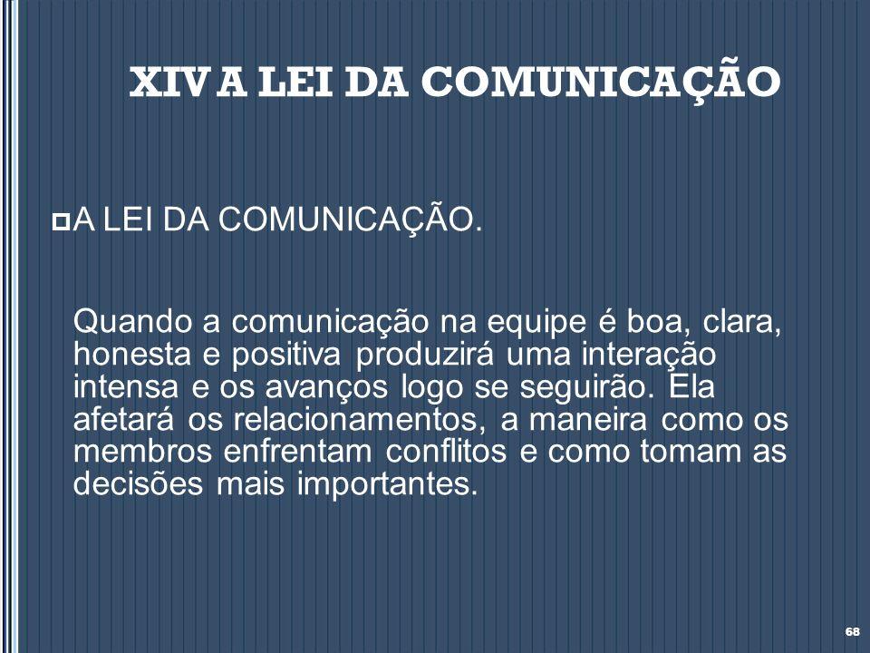 XIV A LEI DA COMUNICAÇÃO