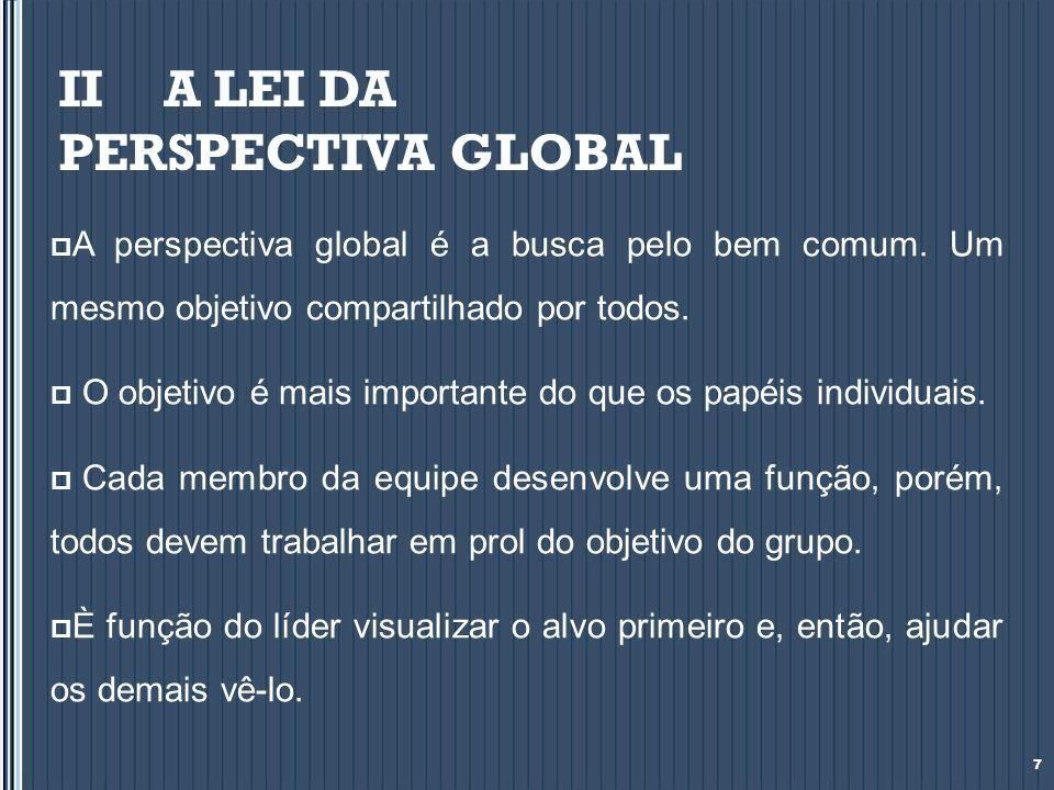 II A LEI DA PERSPECTIVA GLOBAL