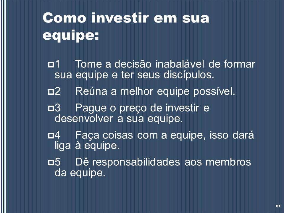 Como investir em sua equipe: