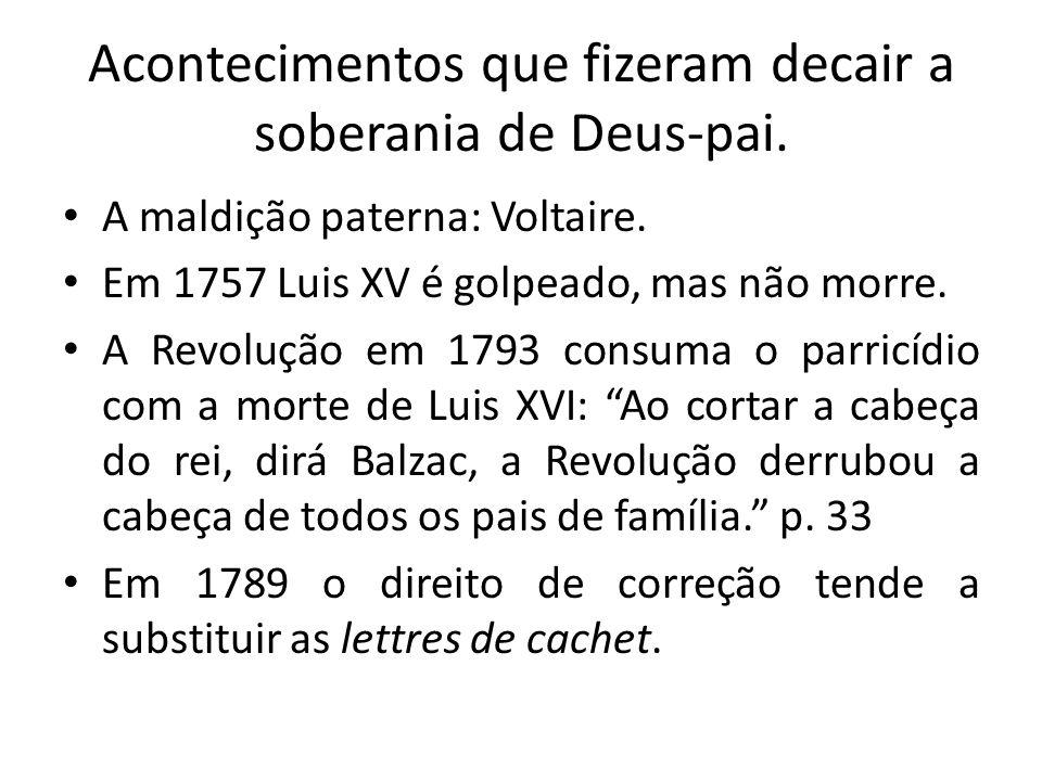 Acontecimentos que fizeram decair a soberania de Deus-pai.