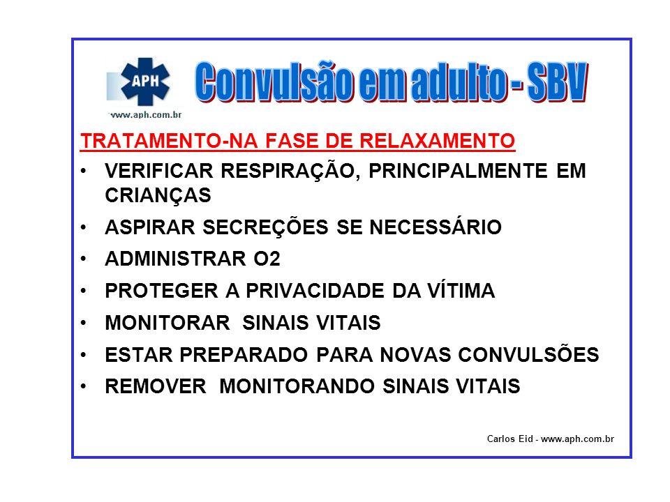 Convulsão em adulto - SBV