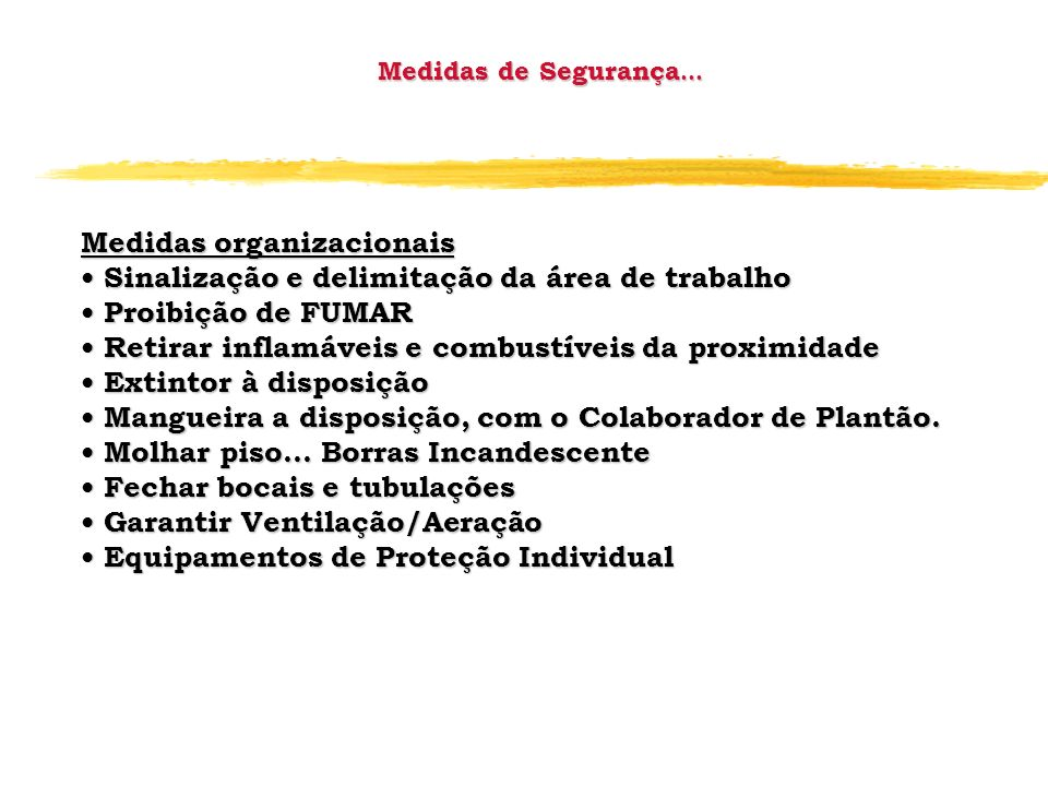 Medidas organizacionais
