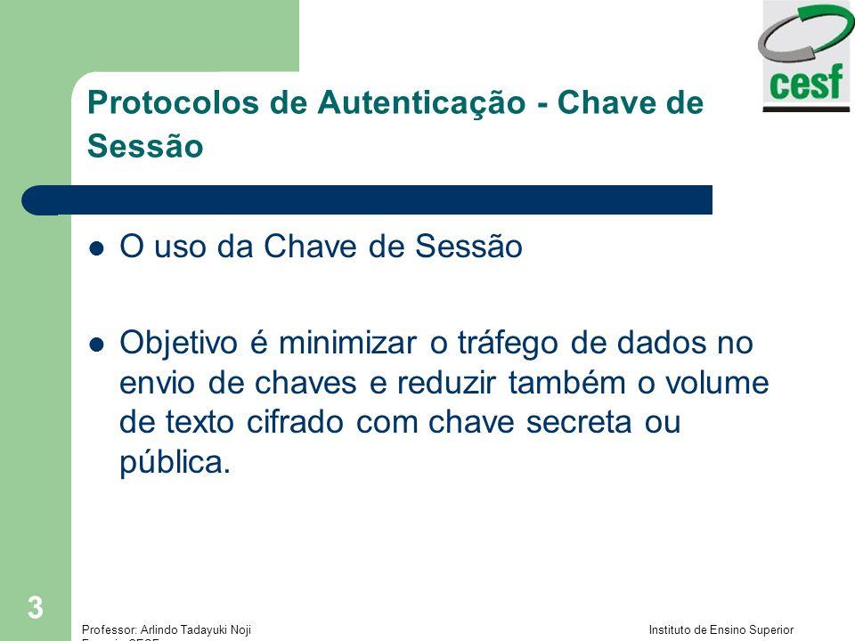 Protocolos de Autenticação - Chave de Sessão