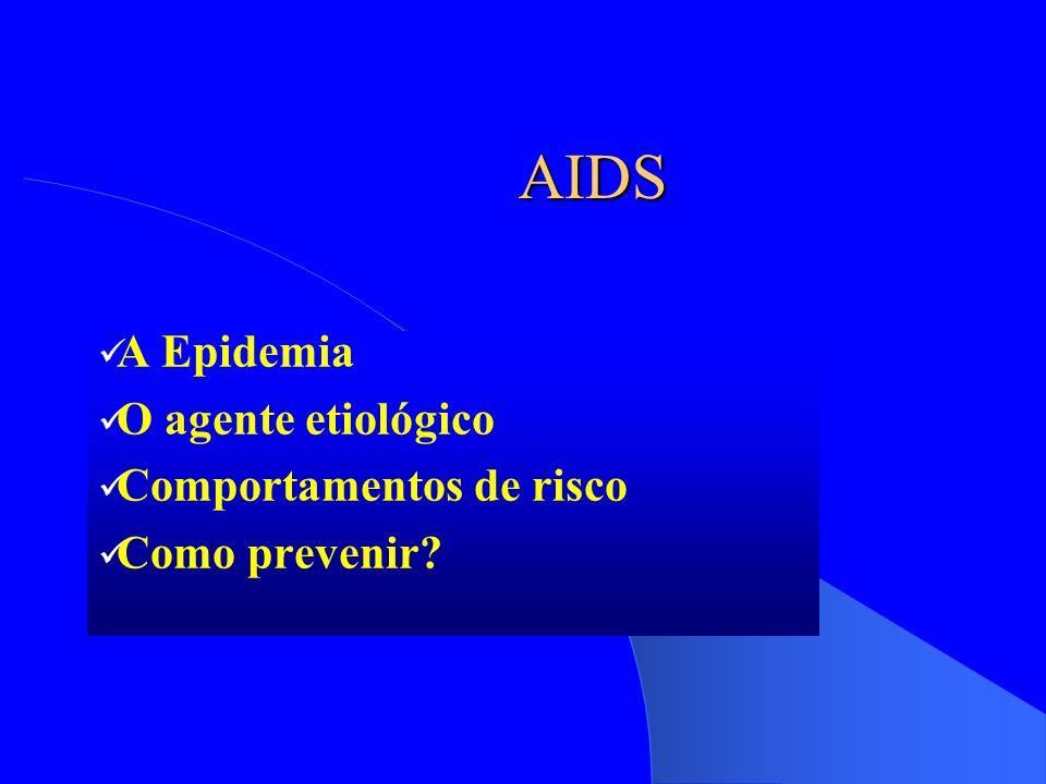 A Epidemia O agente etiológico Comportamentos de risco Como prevenir