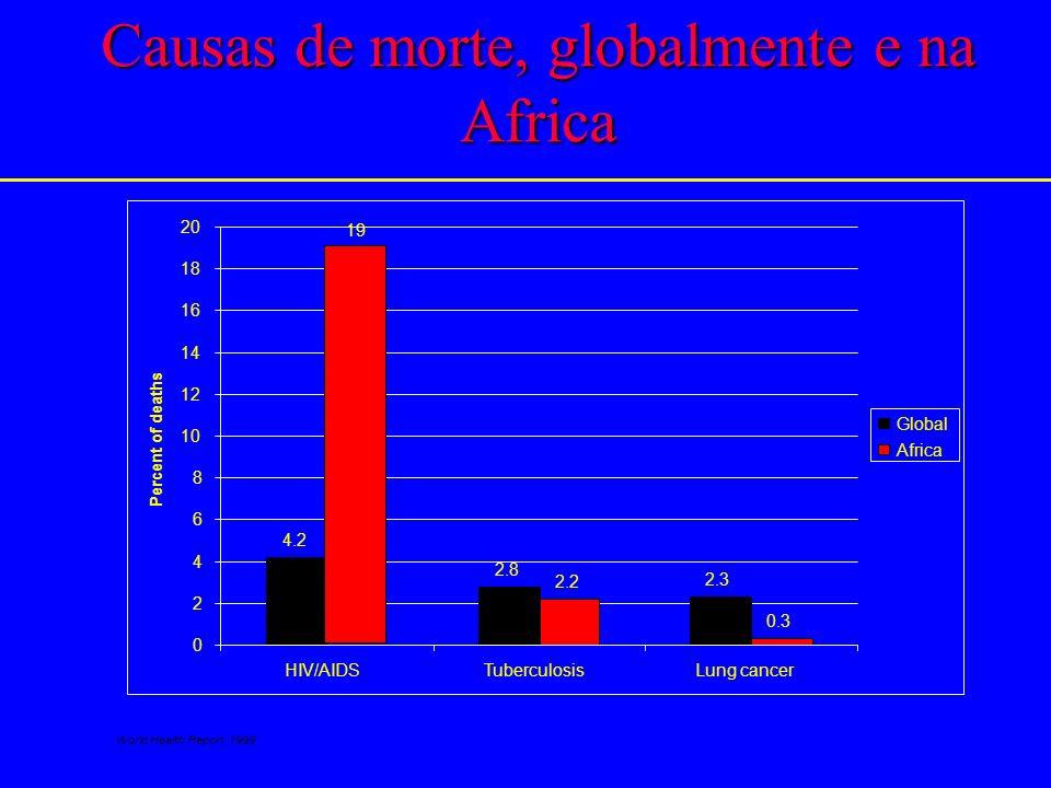 Causas de morte, globalmente e na Africa