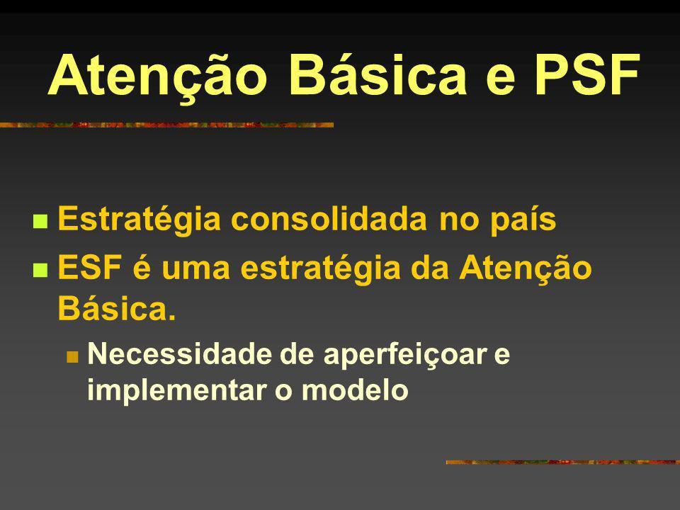Atenção Básica e PSF Estratégia consolidada no país