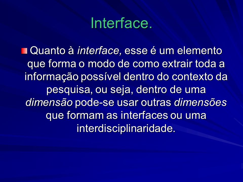 Interface.
