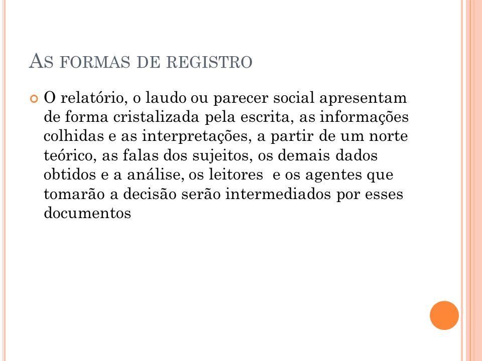 As formas de registro