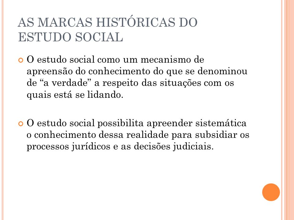 AS MARCAS HISTÓRICAS DO ESTUDO SOCIAL