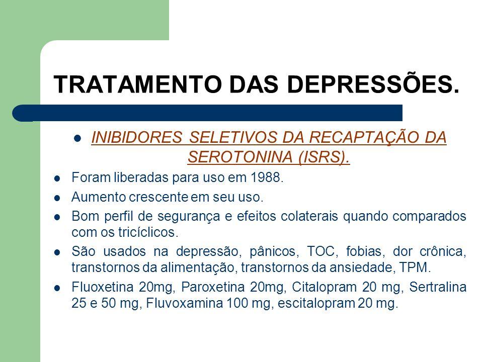 TRATAMENTO DAS DEPRESSÕES.