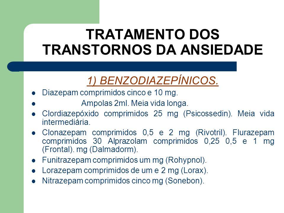 TRATAMENTO DOS TRANSTORNOS DA ANSIEDADE