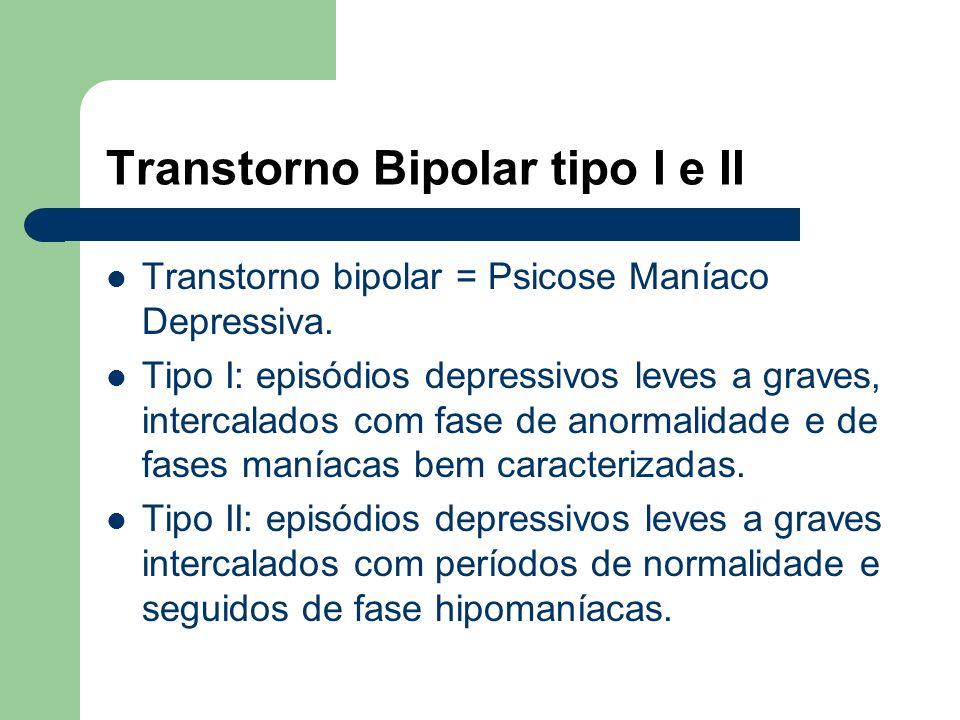 Transtorno Bipolar tipo I e II