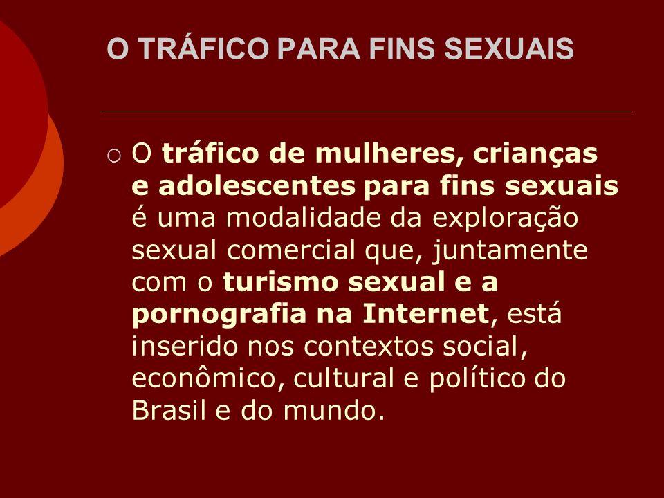 O TRÁFICO PARA FINS SEXUAIS