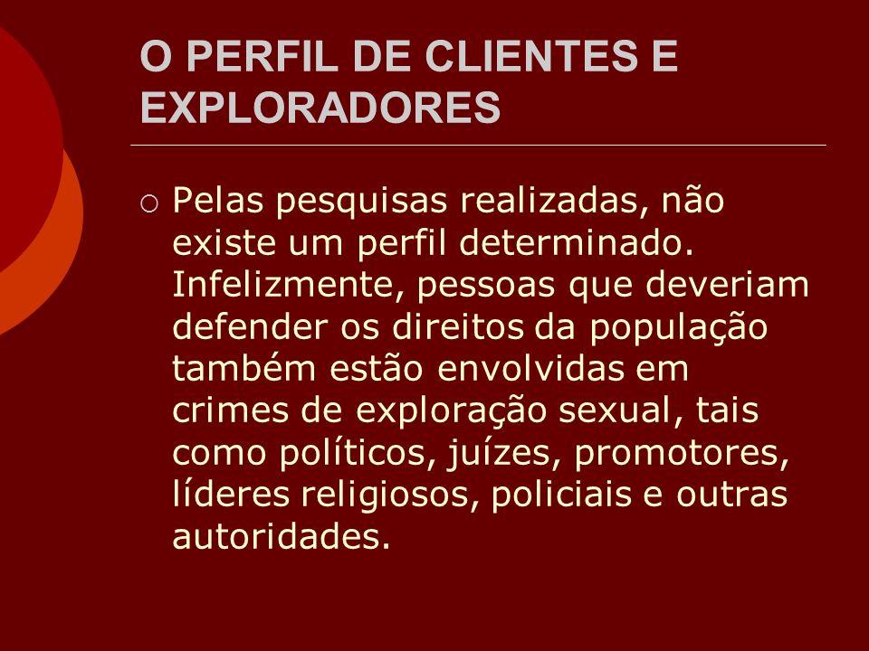 O PERFIL DE CLIENTES E EXPLORADORES