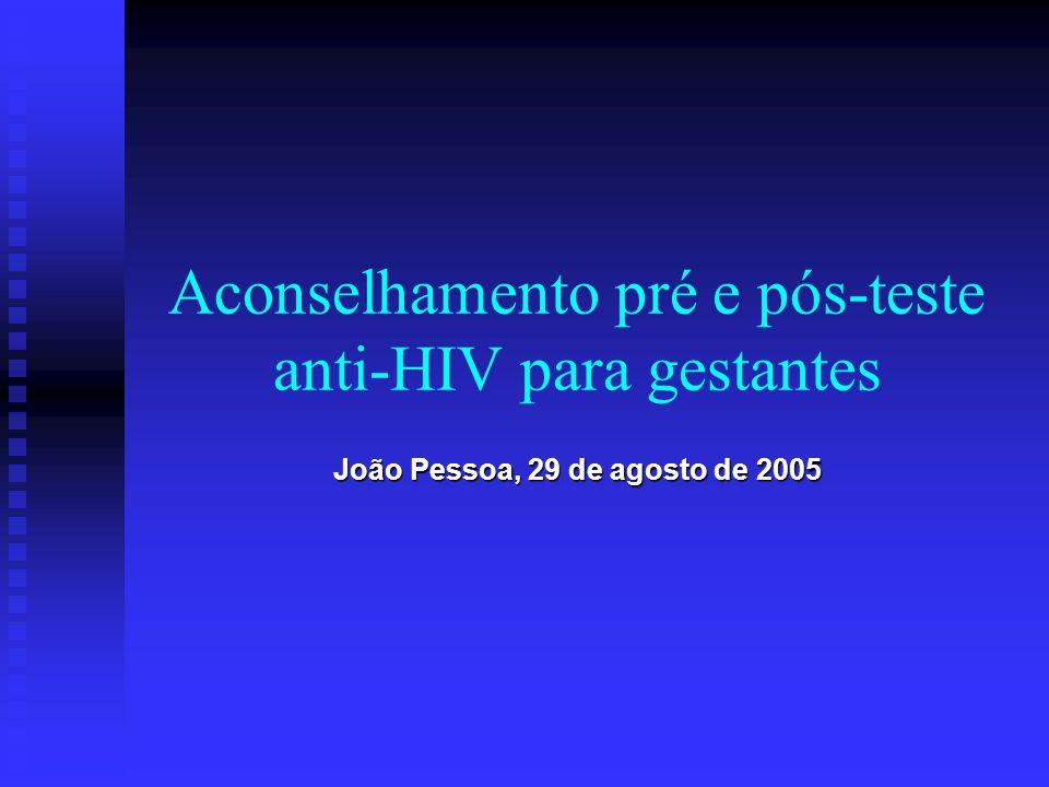 Aconselhamento pré e pós-teste anti-HIV para gestantes