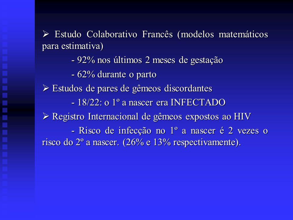  Estudo Colaborativo Francês (modelos matemáticos para estimativa)