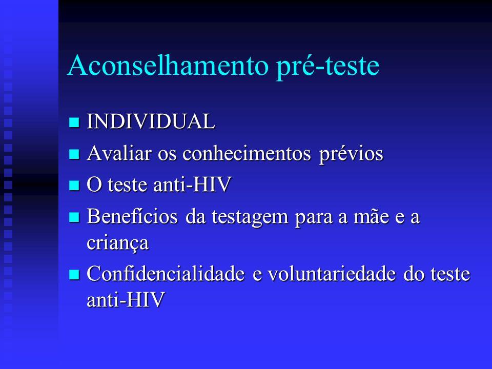 Aconselhamento pré-teste