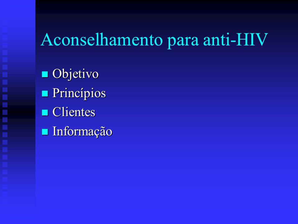 Aconselhamento para anti-HIV