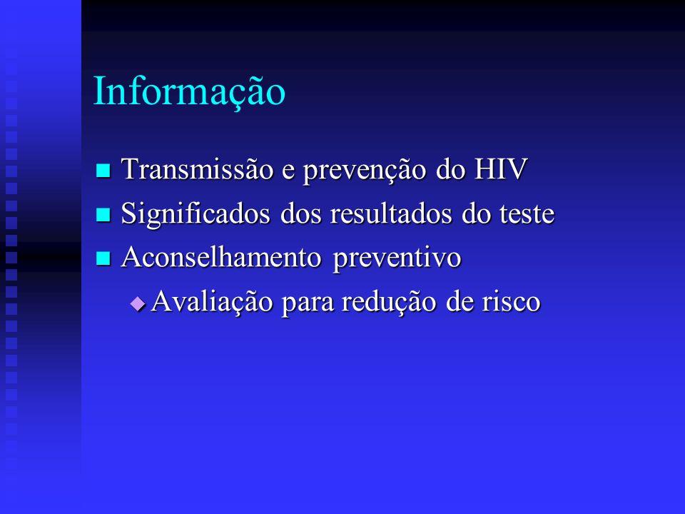 Informação Transmissão e prevenção do HIV