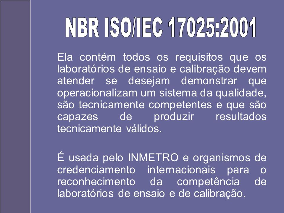 NBR ISO/IEC 17025:2001