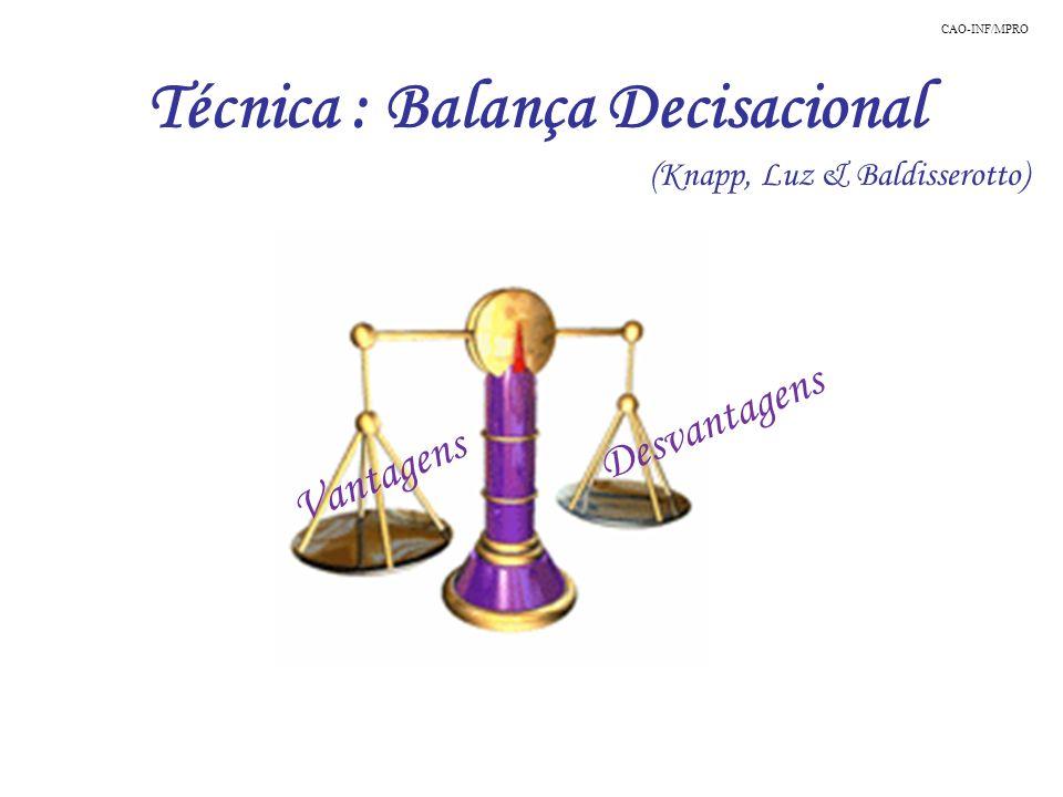 Técnica : Balança Decisacional