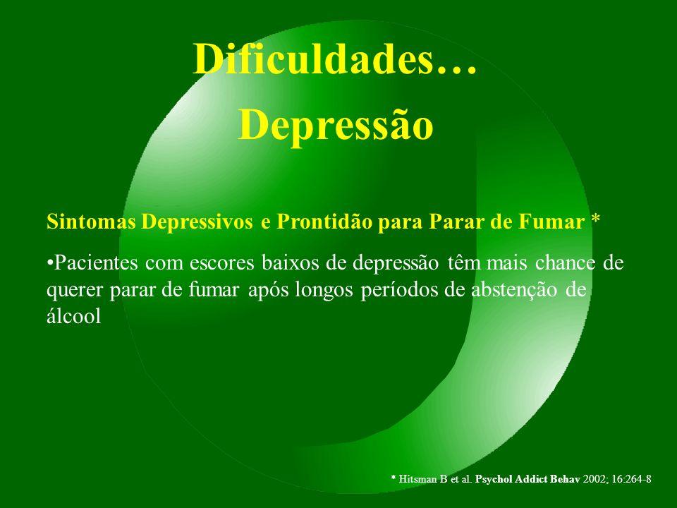 Dificuldades… Depressão