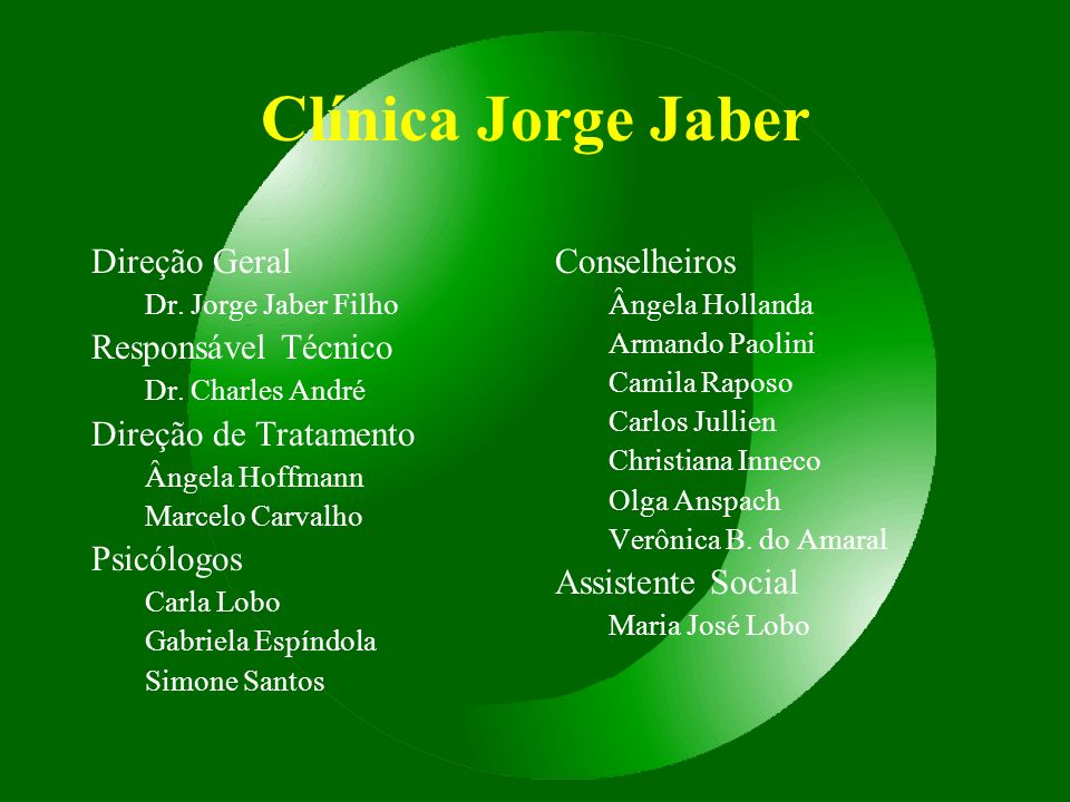 Clínica Jorge Jaber Direção Geral Responsável Técnico