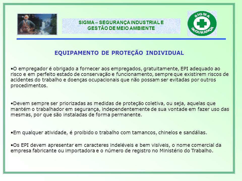 EQUIPAMENTO DE PROTEÇÃO INDIVIDUAL