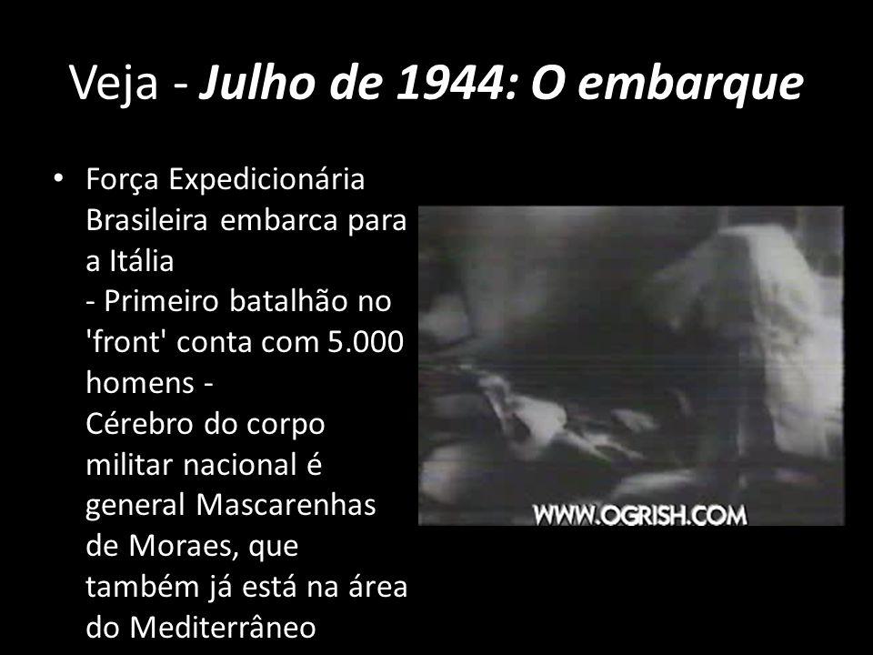 Veja - Julho de 1944: O embarque