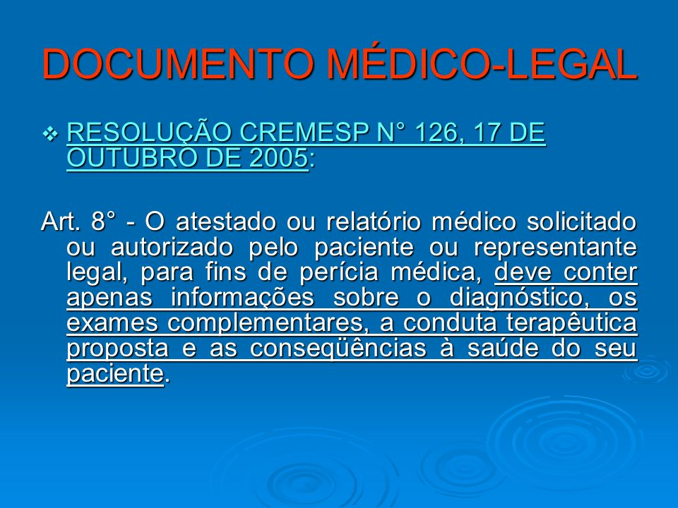 DOCUMENTO MÉDICO-LEGAL