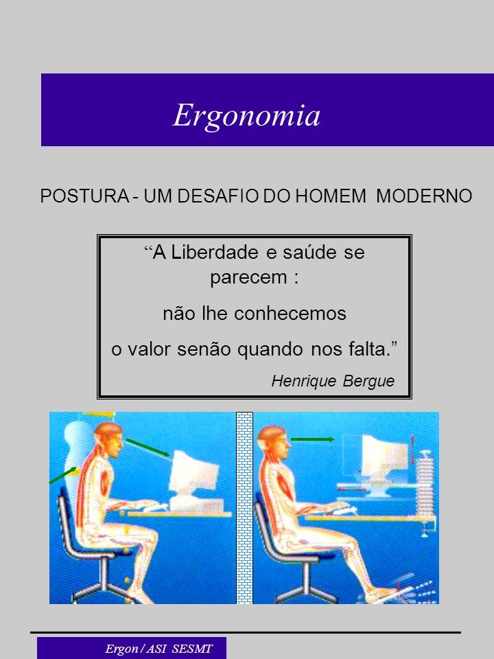 Ergonomia A Liberdade e saúde se parecem : não lhe conhecemos