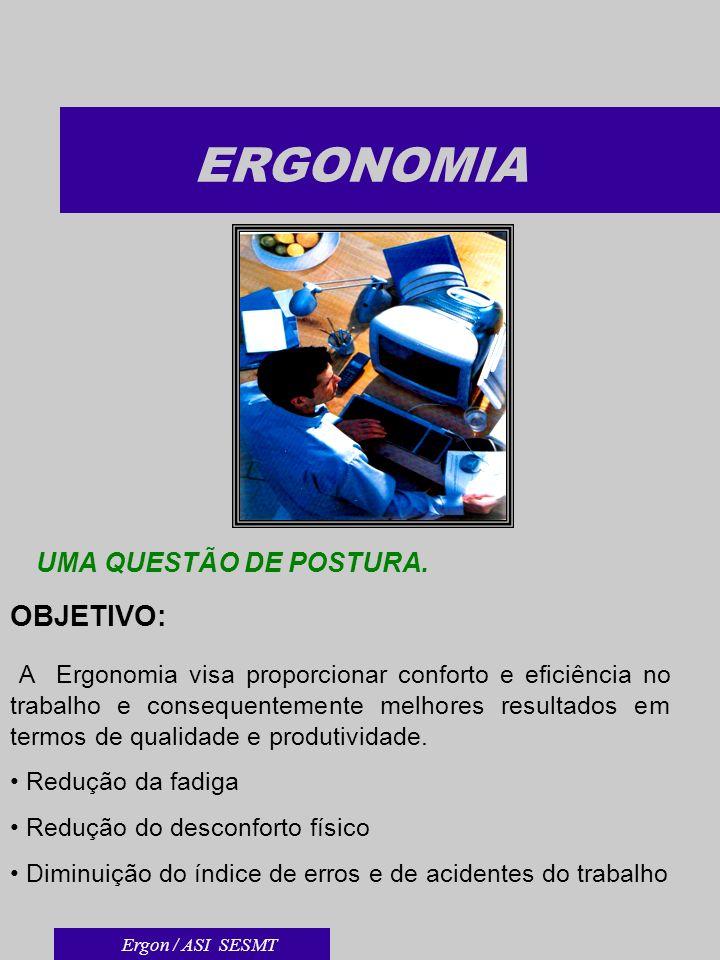 ERGONOMIA UMA QUESTÃO DE POSTURA.