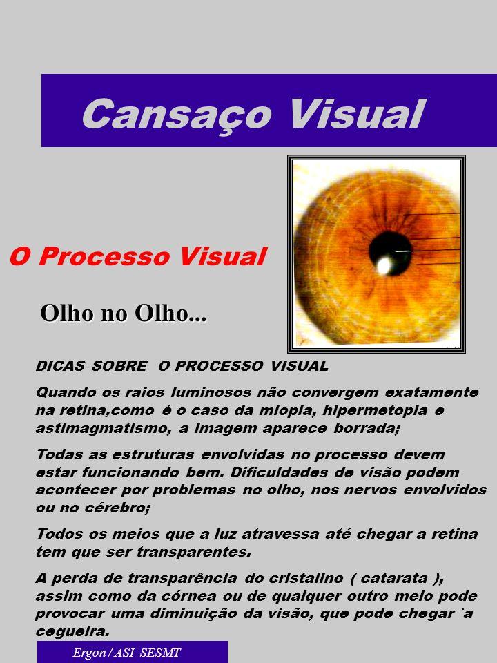Cansaço Visual O Processo Visual Olho no Olho...