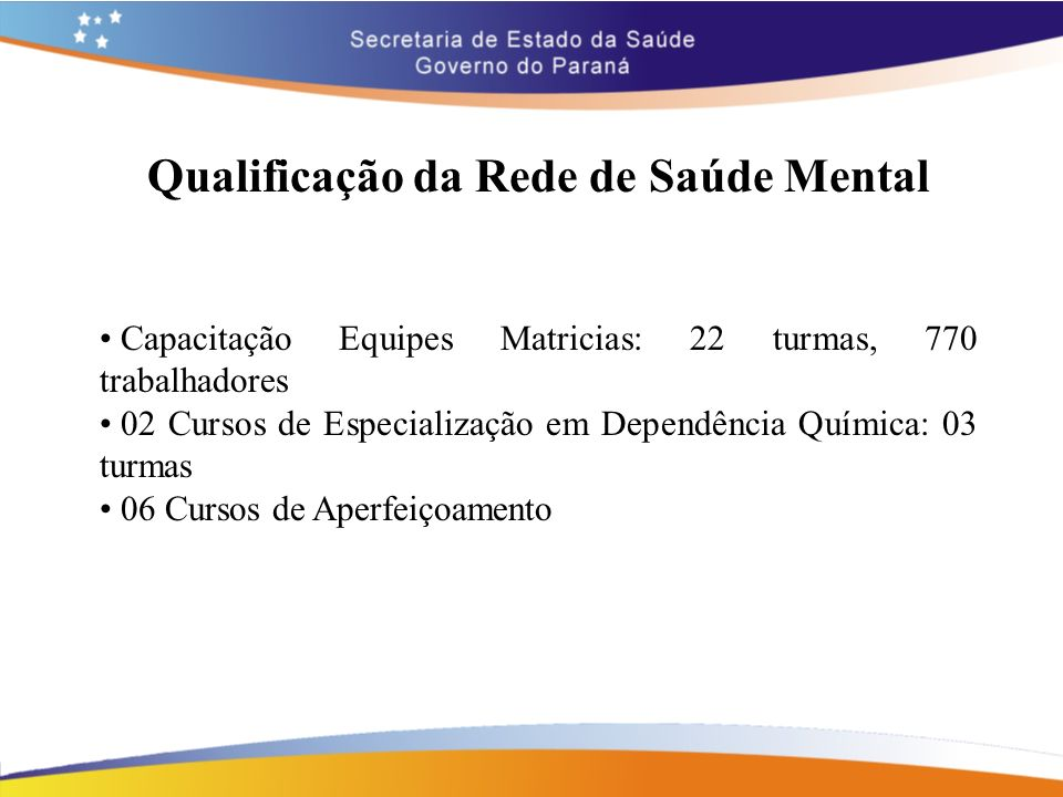Qualificação da Rede de Saúde Mental