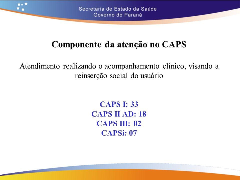 Componente da atenção no CAPS