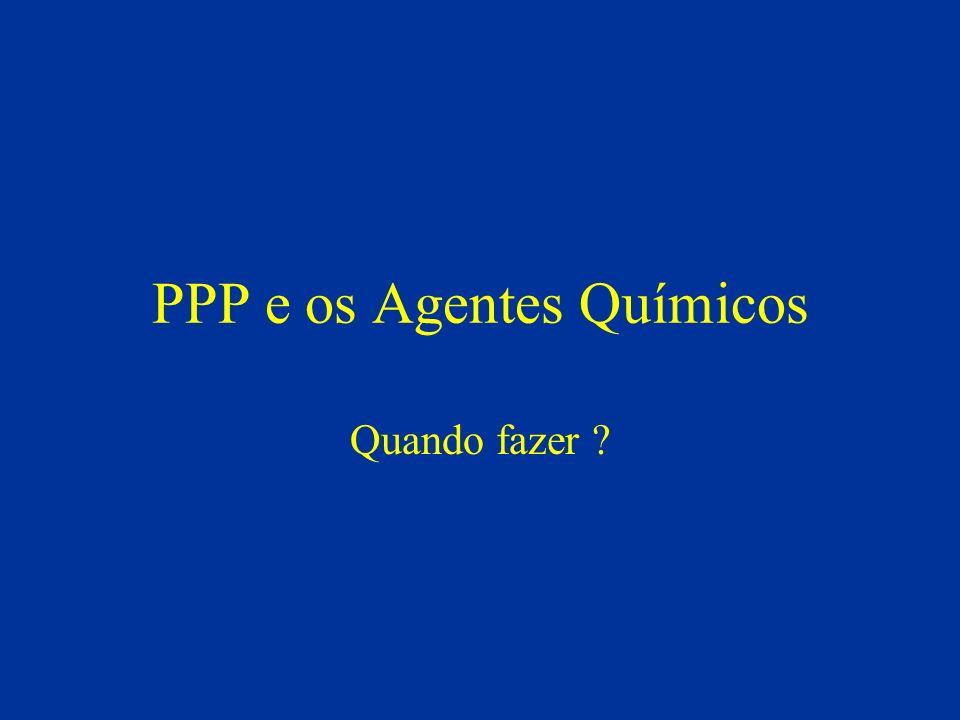 PPP e os Agentes Químicos