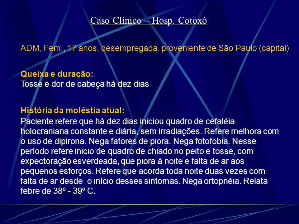 Caso Clínico – Hosp. Cotoxó