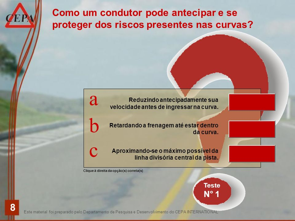 Como um condutor pode antecipar e se proteger dos riscos presentes nas curvas
