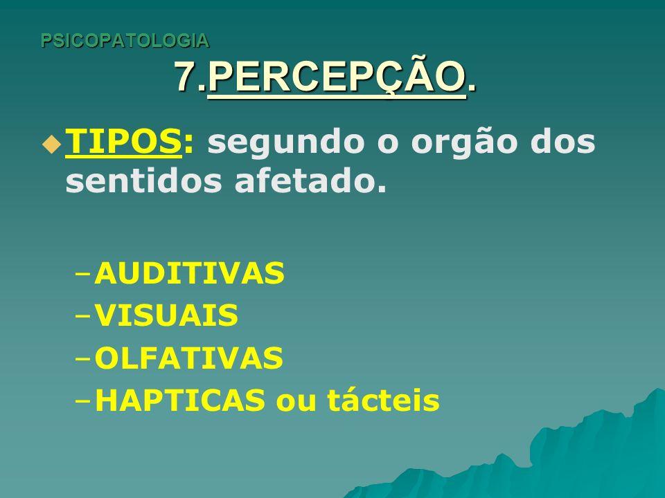 PSICOPATOLOGIA 7.PERCEPÇÃO.