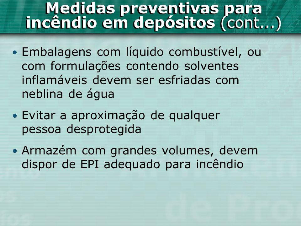 Medidas preventivas para incêndio em depósitos (cont...)