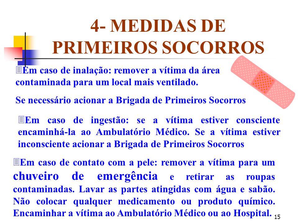 4- MEDIDAS DE PRIMEIROS SOCORROS