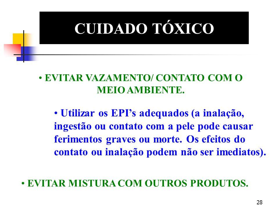 CUIDADO TÓXICO EDS. EVITAR VAZAMENTO/ CONTATO COM O MEIO AMBIENTE.