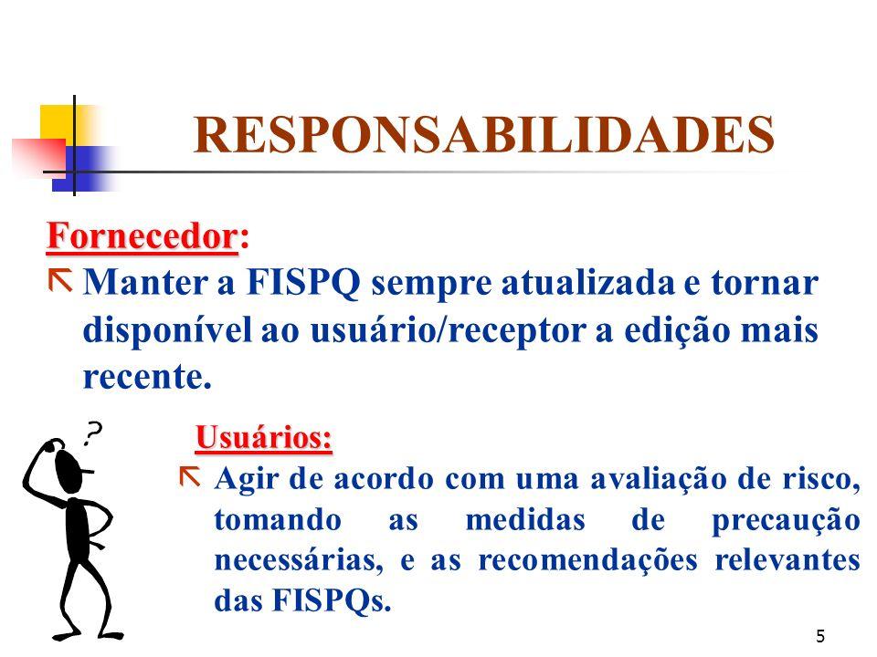 RESPONSABILIDADES Fornecedor: