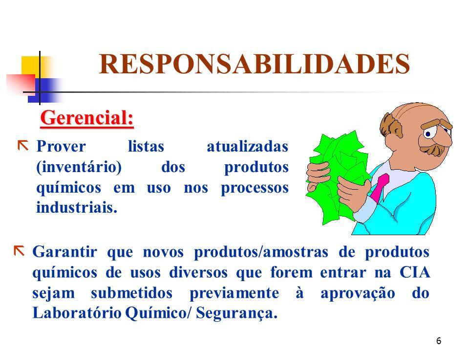 RESPONSABILIDADES Gerencial: