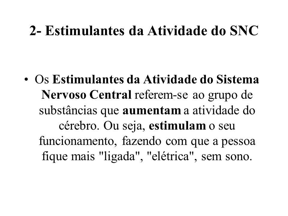 2- Estimulantes da Atividade do SNC