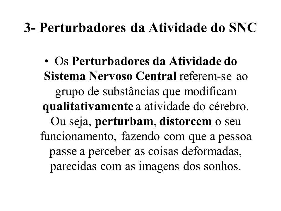 3- Perturbadores da Atividade do SNC